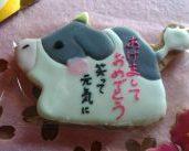 アイシングクッキーレッスン 牛の年賀状♬ 楽しみました